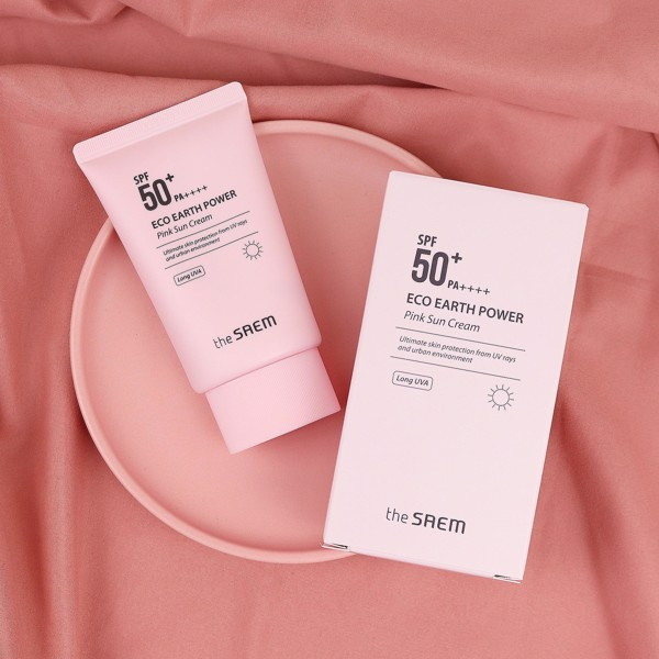 The Saem Eco Earth Earth Power Pink Sun Cream
